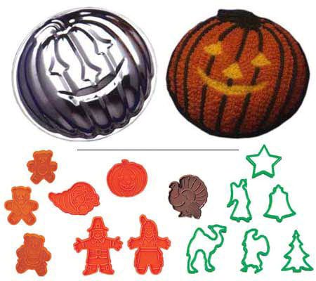 Gourmac Pumpkin Cake Mold and Cookie Cutters