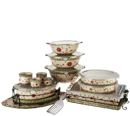 """As Is"" Temp-tations Old World 18-pc Bake & Serve Set"