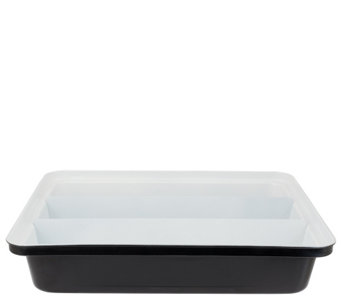 """As Is"" Cooks Essentials Triple Compartment Lasagna Pan - K307395"