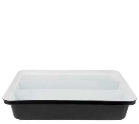 """As Is"" Cooks Essentials Triple Compartment Lasagna Pan"