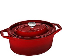 Swiss Diamond 8.9-qt Cast-Iron Oval Casserole - K374995