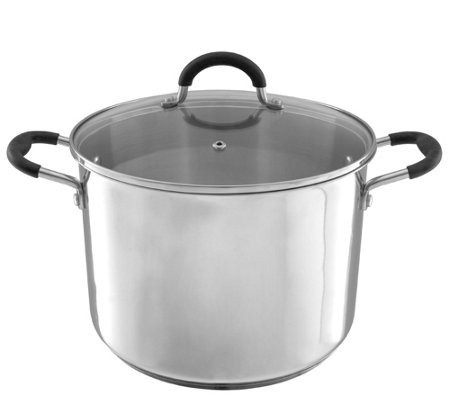 Classic Cuisine 8-qt Stainless Steel Stockpot with Glass Lid