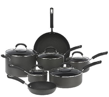 circulon hard anodized 12piece dishwasher safe cookware set