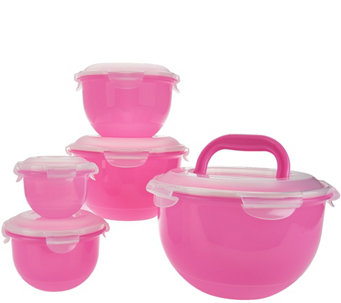 Lock & Lock 5pc Tulip Bowl Storage Set - K43796