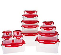 Lock & Lock 14pc Nestable Storage Set w/ 3 Handled Lids - K44696