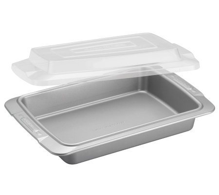 "Cake Boss Deluxe 9"" by 13"" Covered Cake Pan - Clear Lid"