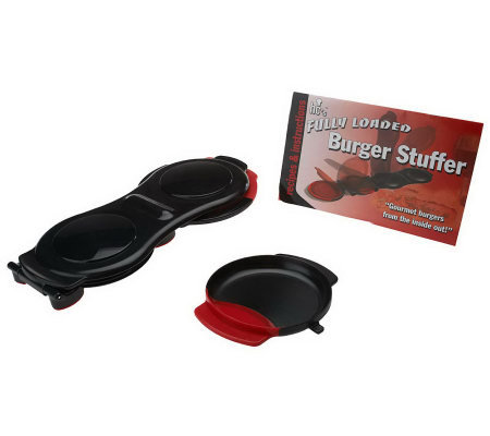 Burger Stuffer Hamburger Maker with Recipe Booklet
