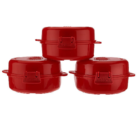 Sistema Set of 3 Microwave Egg Cookers
