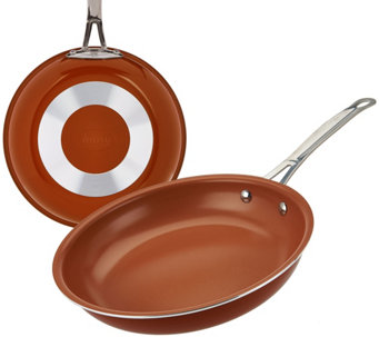"Gotham Steel 10.25"" Aluminum Nonstick Pan with Titanium Ceramic Coating - K44797"