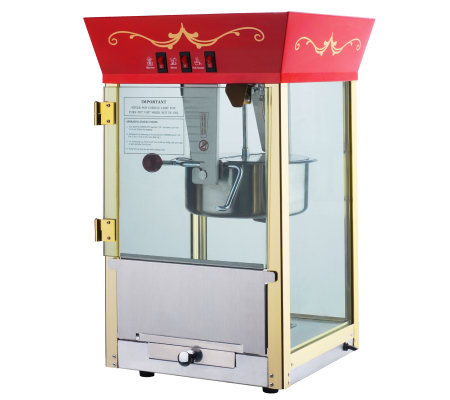 Red Matinee Movie 8-oz Antique-Style Popcorn Machine
