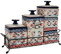 Temp-tations Old World 6-piece Ceramic Canister Set - K41298