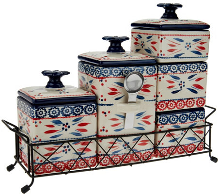 Temp-tations Old World 6-piece Ceramic Canister Set