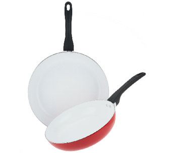 "SilverStone 10"" and 12"" Ceramic Nonstick Skillet Set - K41698"