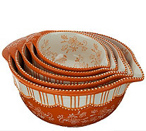 Temp-tations Floral Lace S/5 Bowls with Pour Spouts - K43398