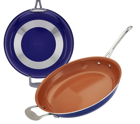 "Gotham Steel 12.5"" Aluminum Nonstick Pan with Titanium Ceramic Coating"