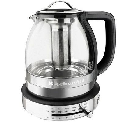 Kitchen Aid Tea Kettle   Kitchenaid Electric Glass Tea Kettle Page 1 Qvc Com