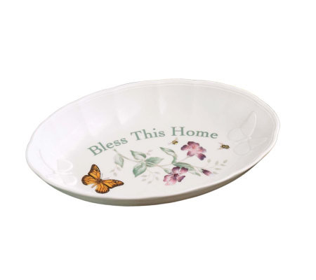 Lenox Butterfly Meadow Bless This Home Tray