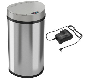 itouchless 13-Gallon Semi-Round Trash Can - K126799