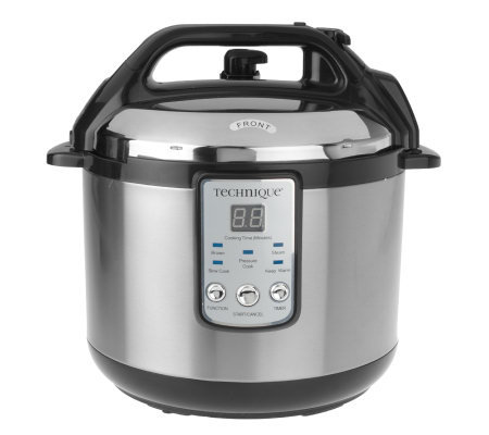 Technique 5 Quart Stainless Steel Programmable Pressure Cooker
