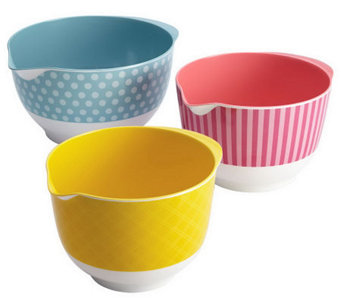 Cake Boss 3-Piece Melamine Mixing Bowl Set - K302499