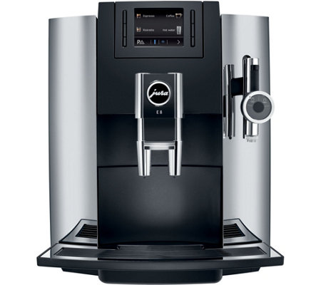 jura e8 automatic coffee center chrome. Black Bedroom Furniture Sets. Home Design Ideas