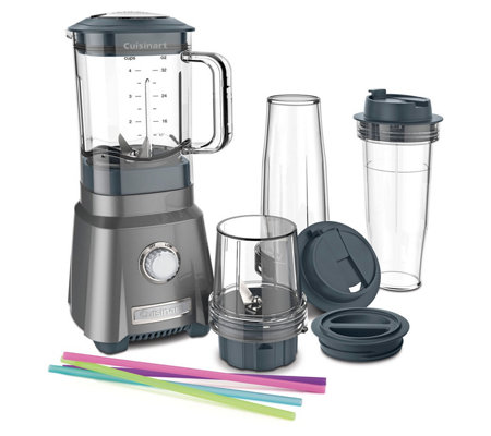 Cuisinart Hurricane Compact Juicing Blender w/2 Travel Cups