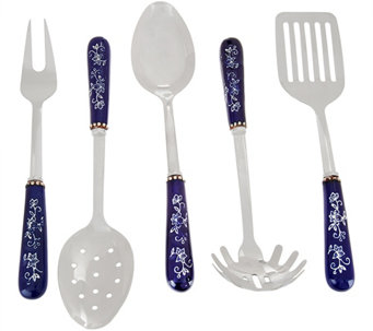 Temp-tations Floral Lace 5-pc. Stainless Steel Utensil Set - K42799