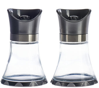 Kuhn Rikon S/2 Large Metallic Finish Glass Vase Grinders - K44099
