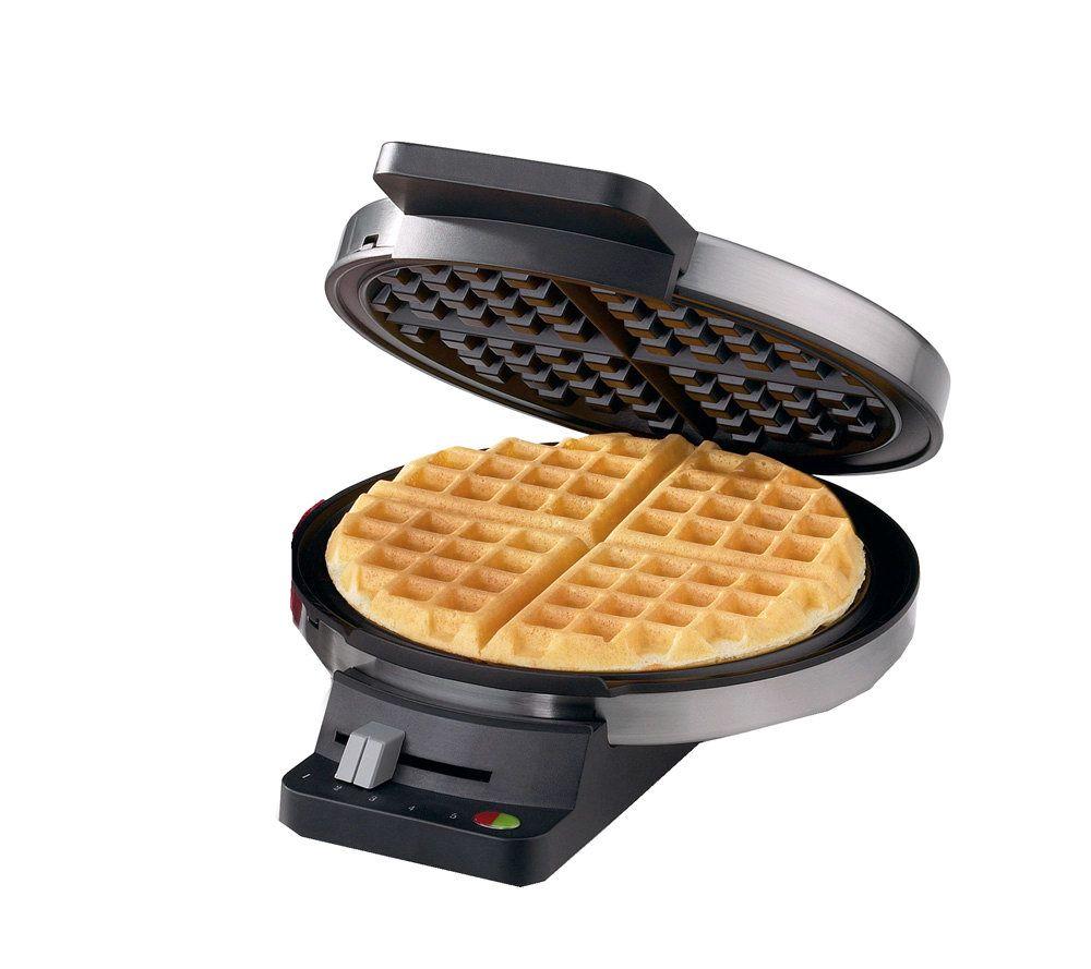 cuisinart round classic waffle maker chromeblack k123621