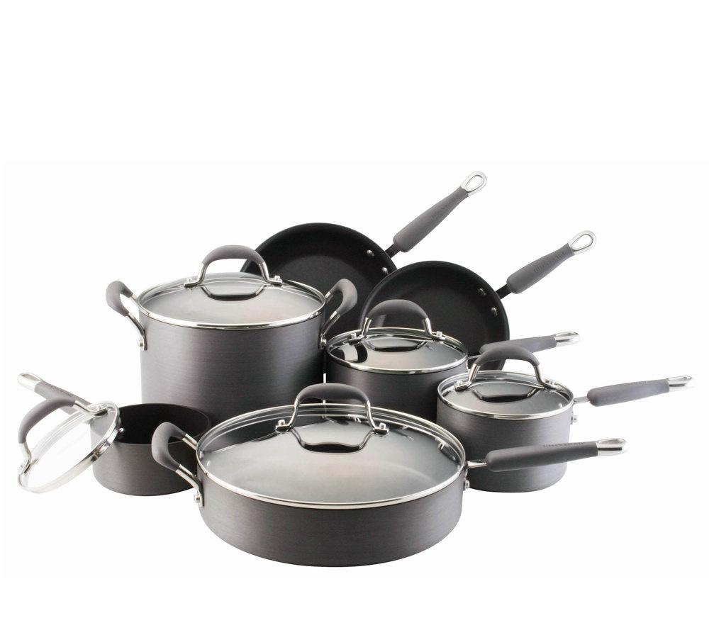 Kitchenaid Pot And Pan Set kitchen aid hard anodized 12-piece cookware set - page 1 — qvc
