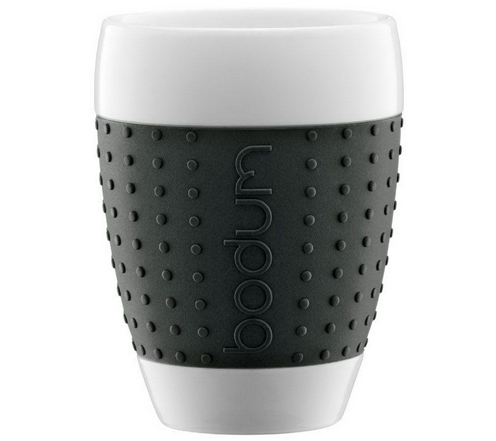 Lovely Bodum Pavina Porcelain Cup With Silicone Grip,13.5 Oz U2014 QVC.com Good Ideas