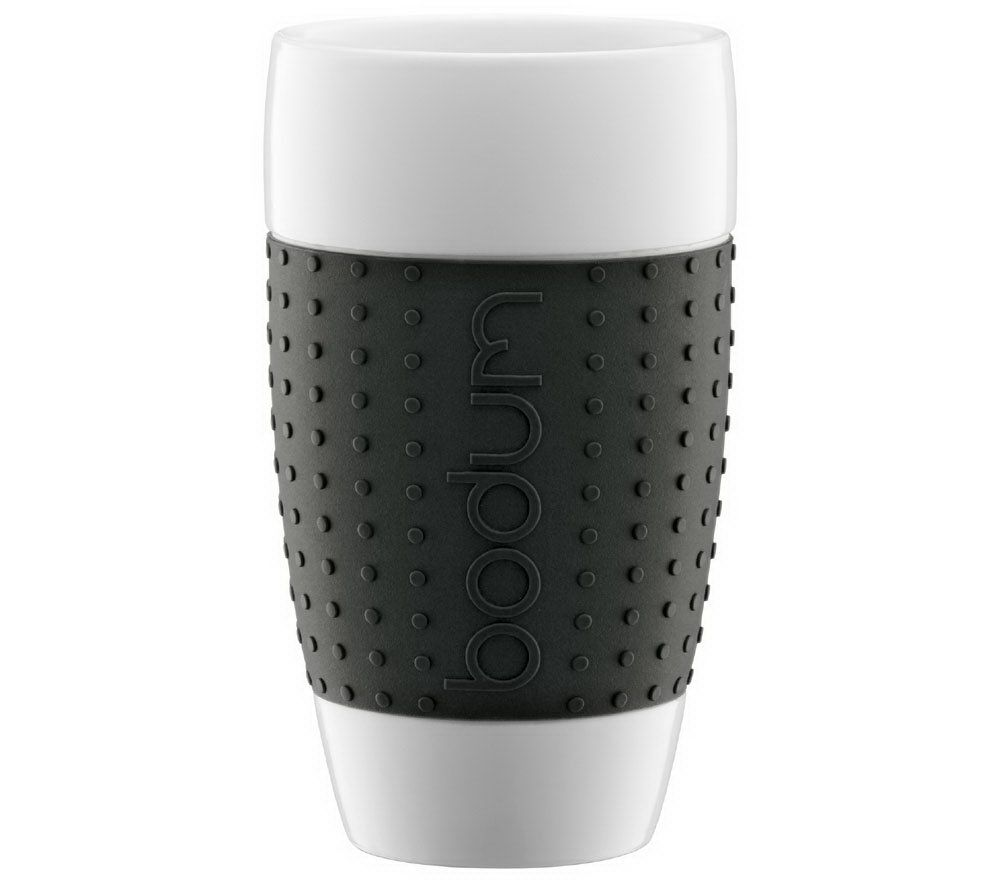 Bodum Pavina Porcelain Cup With Silicone Grip,17 Oz U2014 QVC.com Nice Look
