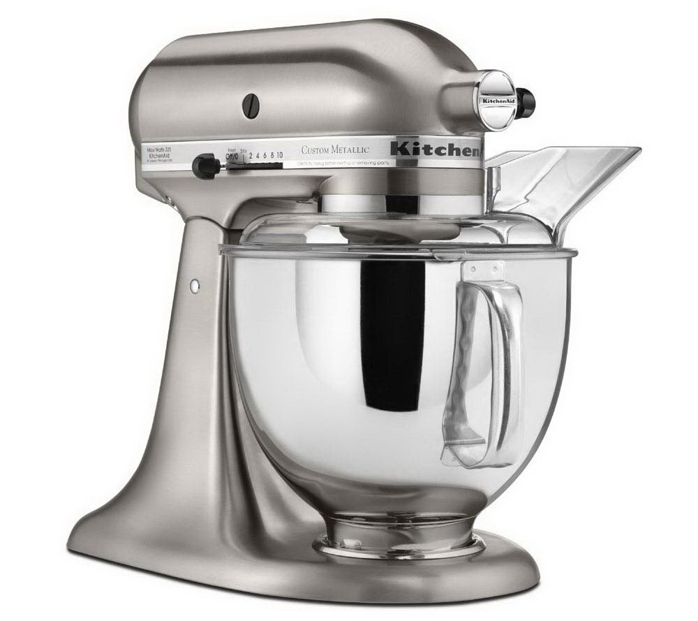 Kitchen Aid kitchenaid 5-qt metallic series stand mixer - page 1 — qvc