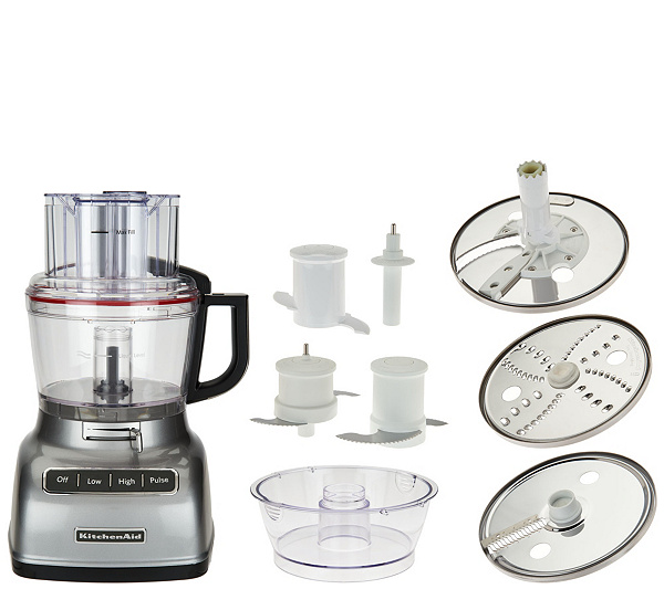 As Is Kitchenaid 9 Cup Exactslice Food Processor Qvc
