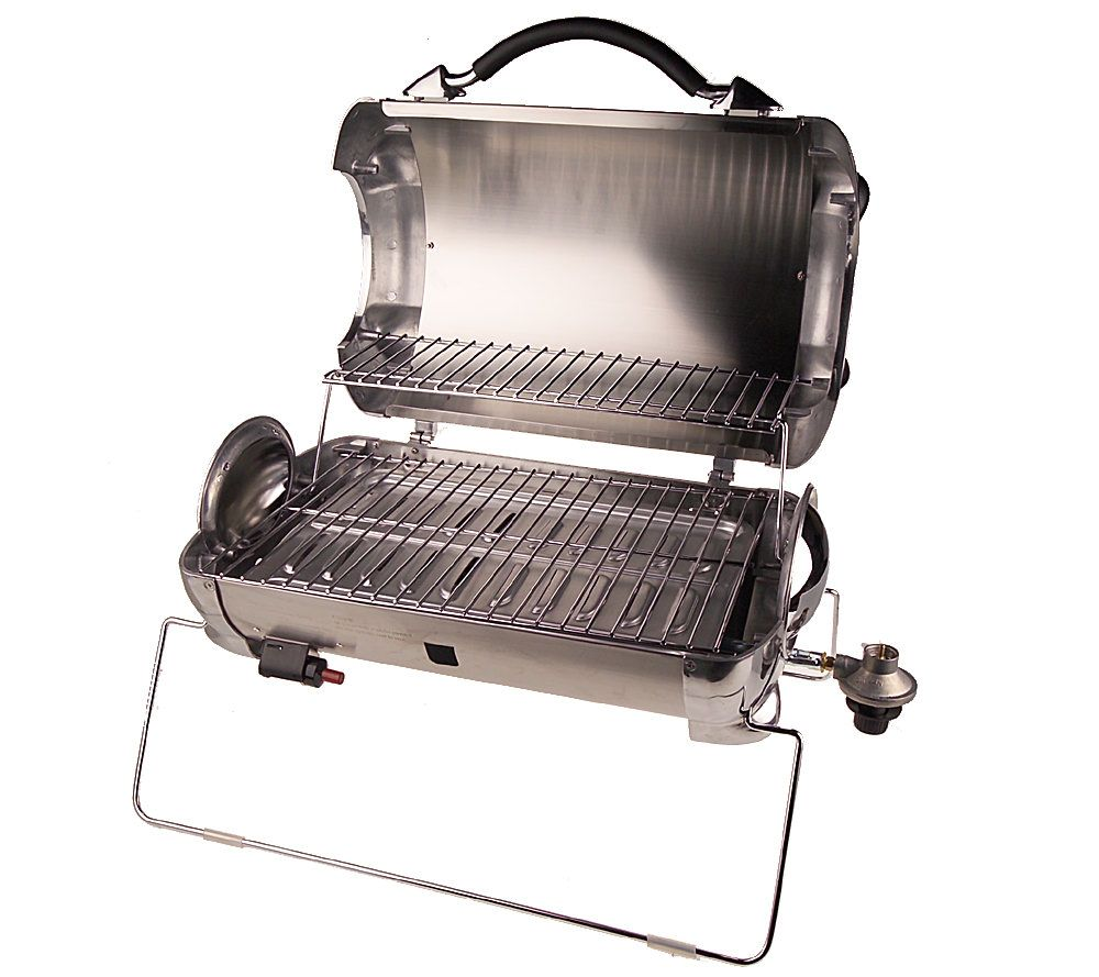 George Foreman Outdoor Stainless Steel Portable Propane Grill   Page 1 U2014  QVC.com