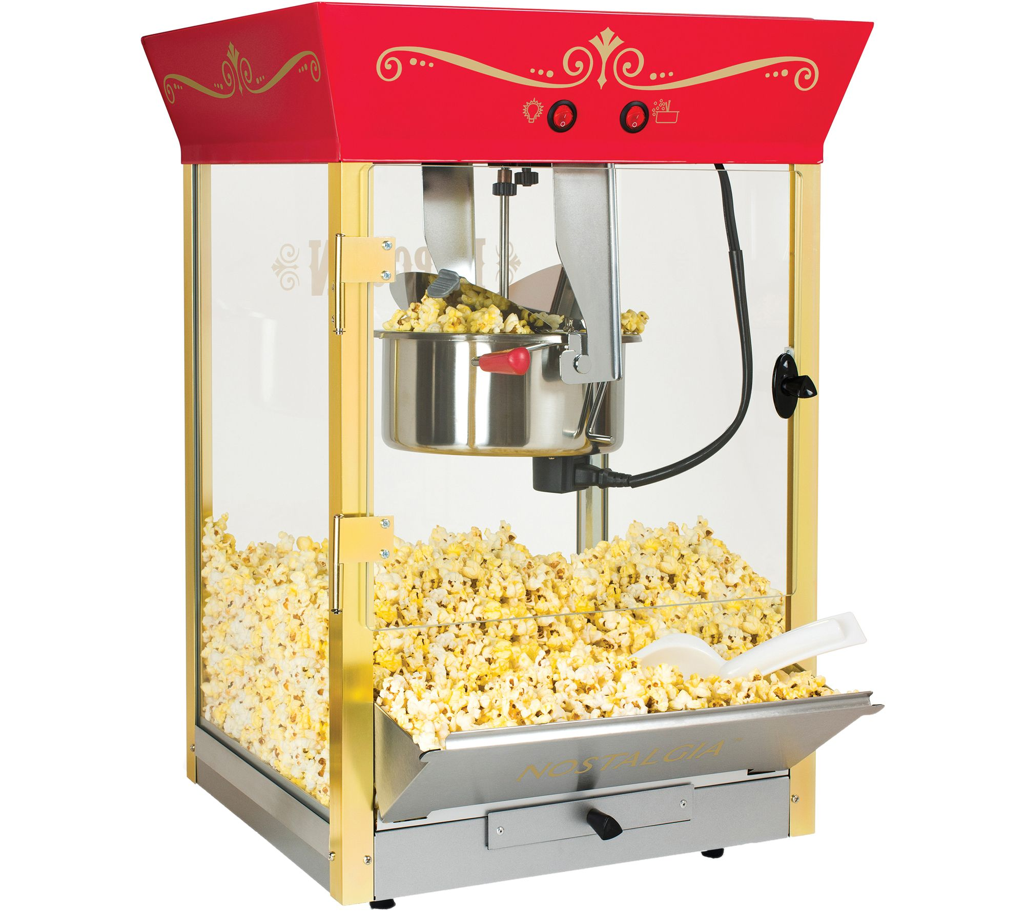Nostalgia Electrics Commercial 8 Oz Tabletop Popcorn Popper U2014 QVC.com