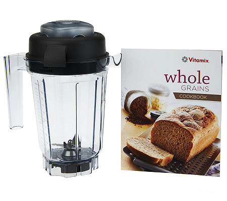 Vitamix 32 oz dry grains blending container w recipe book qvc forumfinder Choice Image