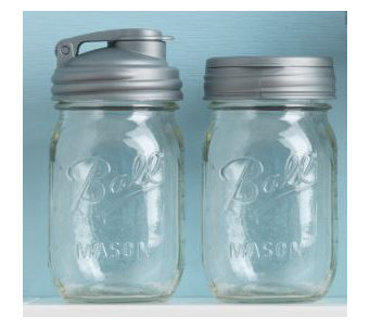 reCAP Lids Set of 2 Multifunctional Reusable Jars w/ Caps - L44803