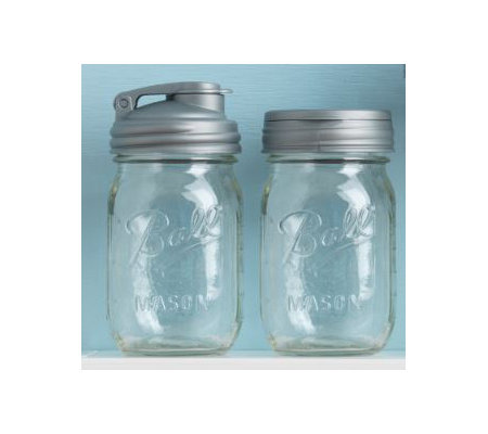 reCAP Lids Set of 2 Reusable Mason Jars w/ Caps