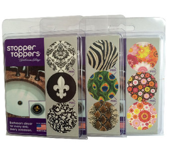 Stopper Toppers Set of 9 Bathroom Sink Topper Decor - L40106