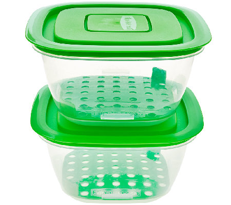 Set of 2 Flip It Fresh Salad Containers