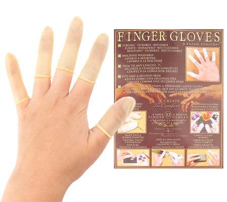Finger Gloves Natural Latex 60 Reusable Fingertip Covers