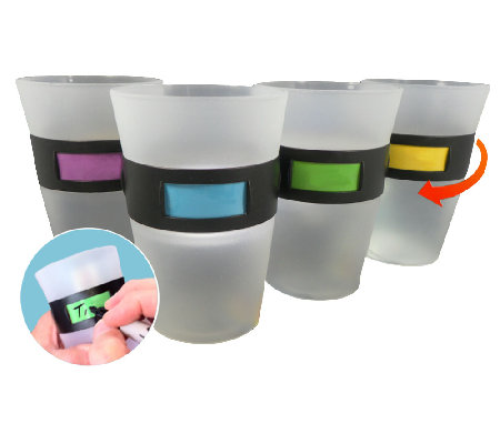 Set of Four My Color Cup Twist-Id Customizable Plastic Cups