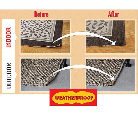 Nevercurl 8 Piece Indoor Outdoor Anti Curl Rug Corners Page 1 Qvc Com