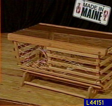 Oak Wood Lobster Trap Coffee Table QVCcom