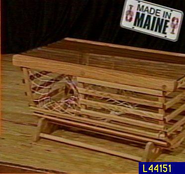 oak wood lobster trap coffee table — qvc