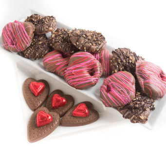 Landies Candies 16-pc Valentine's Day Milk Chocolate Pretzels - M115200