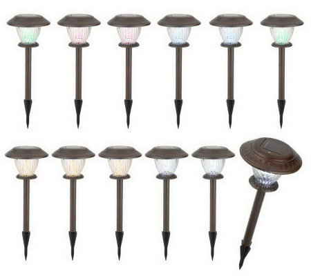 Westinghouse Set of 12 Single LED Solar Lights with 3 Settings