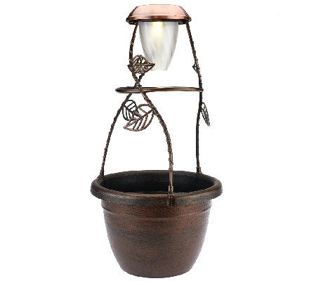 SolaRadiance Decorative 1.5 Gallon Planter with Solar Light