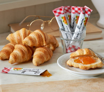 Authentic Gourmet (50) Mini Croissants with Preserves Auto-Delivery - M50100